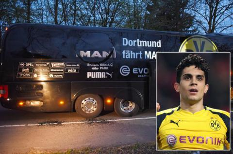 Football player wounded in bomb attack on Borussia Dortmund's team bus in Germany
