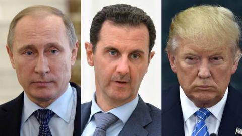 """Trump says Putin's support for Assad is """"very bad for Russia"""""""