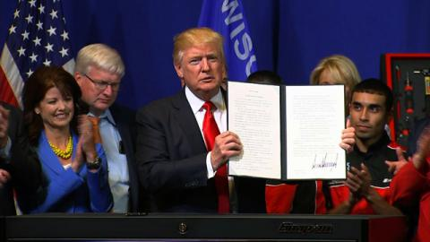 Trump orders to review highly skilled workers' visa program