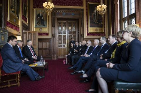 Ukrainian president, British MPs discuss cooperation with NATO, reforms in Ukraine