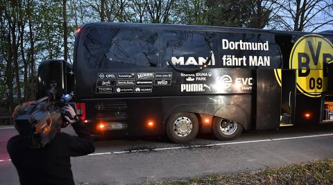 Man arrested over bombing of Borussia Dortmund bus