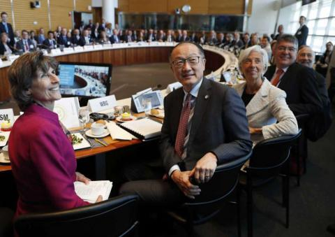 IMF, WB leaders defending trade at meeting of global finance leaders