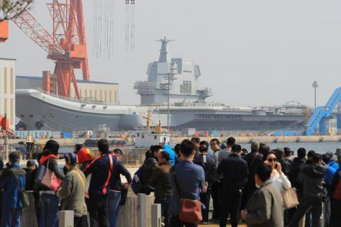 First China-build aircraft carrier launched (VIDEO)