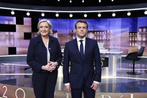 French presidential candidates split over Ukrainian issue during TV debates