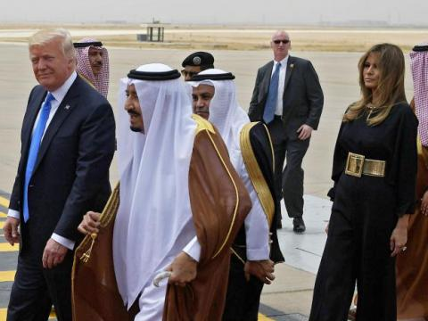 "U.S. President called on Arab leaders to ""drive out"" terrorism from their countries"