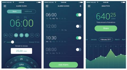 Smartphone alarm clock app to raise donations for Ukrainian army