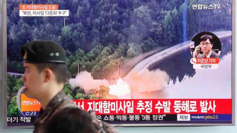 N.Korea-launched ballistic missile lands in sea near Japan