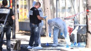 Marseille bus stop hit by car, one dead and driver arrested