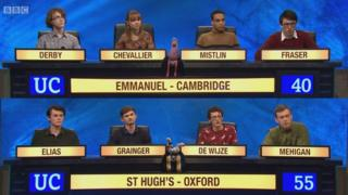Former women's college fields all-male University Challenge team