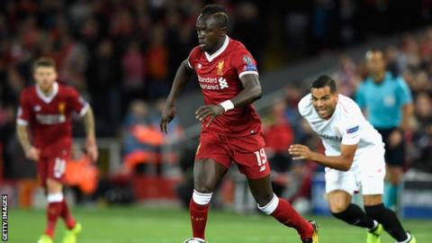 Sadio Mane: Liverpool forward out for up to six weeks with hamstring injury