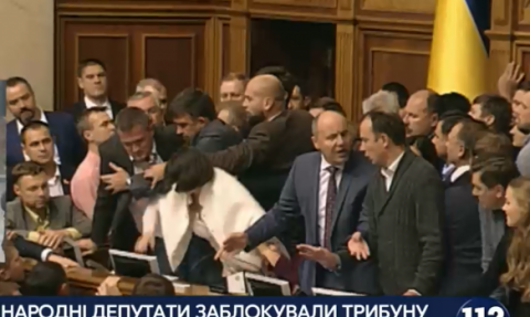 Samopomich party provokes jostle as Parliament looks into Donbas reintegration law