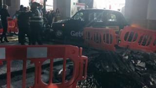 Pedestrian 'seriously injured' after London taxi crash