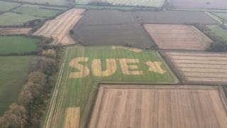 #WhoIsSue?Mystery behind giant field message solved