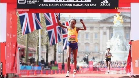 Jemima Sumgong: Four-year doping ban for Olympic marathon champion
