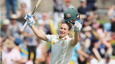 Women's Ashes 2017: Australia's Ellyse Perry hits record double century