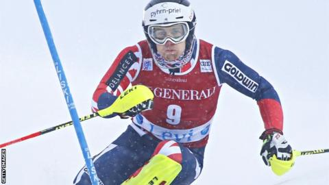 Alpine skiing: Britain's Dave Ryding crashes on brink of World Cup win