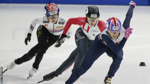 Elise Christie wins first World Cup title of season in Seoul