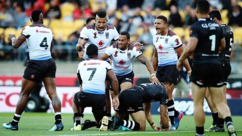 Rugby League World Cup: Fiji defeat New Zealand 4-2 in thrilling quarter-final