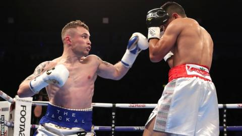 Carl Frampton beats Horacio Garcia on points on return to ring