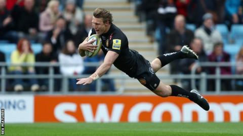 Premiership: Exeter Chiefs 31-17 Harlequins