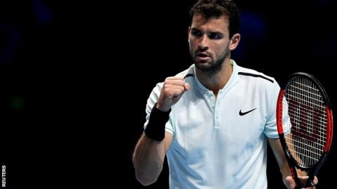 ATP Finals: Grigor Dimitrov beats David Goffin to win title in London