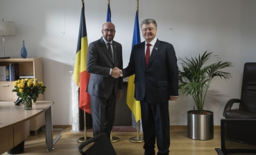 Eastern partnership summit sidelines: Poroshenko meets European leaders