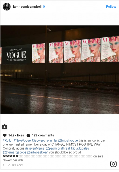 Praise for Enninful's first British Vogue cover