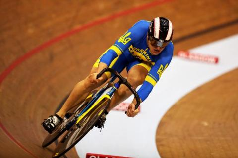 Ukrainian wins silver in World Cup series on track cycling