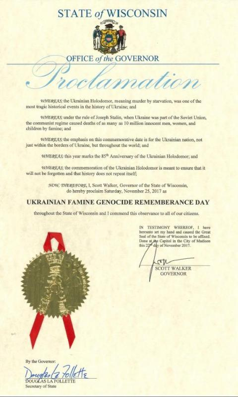 Another US State recognizes Holodomor as genocide of Ukrainians