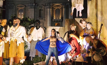 Femen holds a protest in Vatican during Christmas Mass