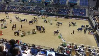 Liverpool Echo Arena car park fire disrupts horse show