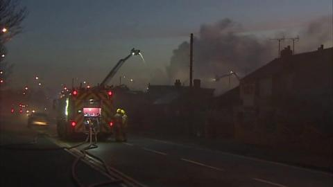 Guests evacuated as fire engulfs Deeside hotel