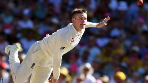 Ashes: Mason Crane's England debut shows promise