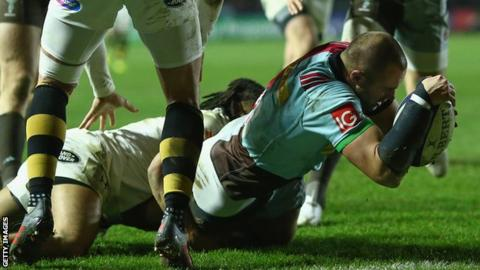 European Champions Cup: Harlequins 33-28 Wasps