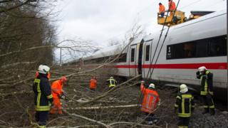 Europe storm: Germany in huge clean-up as trains run again