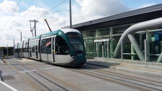 Safety warning after pram dragged by Nottingham tram