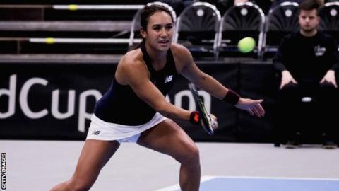 Fed Cup: Watson and Konta lead GB closer to World Group II play-offs