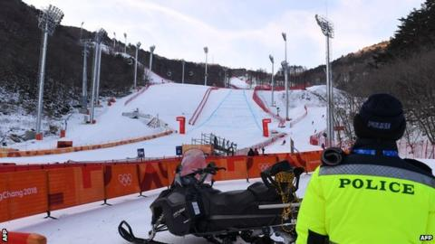 Winter Olympics: Men's downhill postponed because of high winds