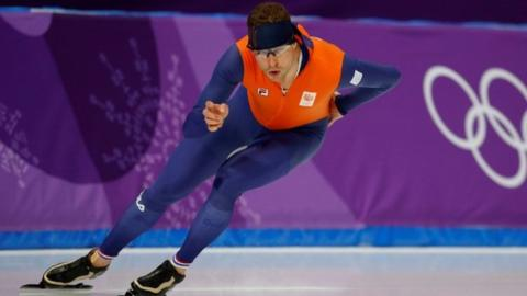 Winter Olympics: Dutch skater Sven Kramer clinches third straight 5,000m gold