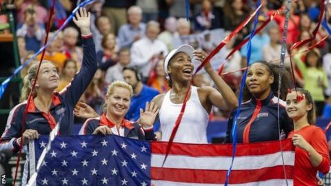 Serena Williams makes return to competitive tennis in Fed Cup doubles