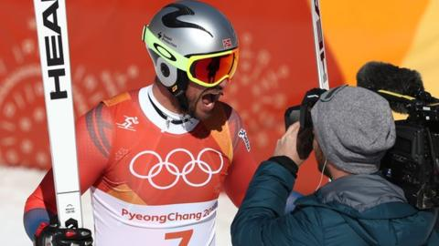 Winter Olympics: Aksel Lund Svindal wins downhill gold in Pyeongchang
