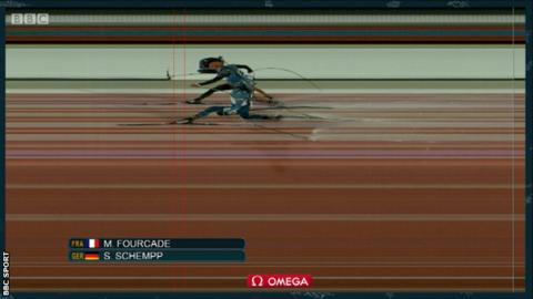 Winter Olympics: Martin Fourcade wins gold in biathlon photo finish