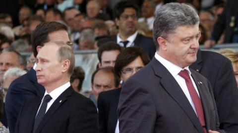 Poroshenko, Putin hold telephone conversation, timed to Minsk deal anniversary