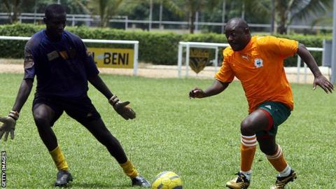 President 'roughed up' in football match