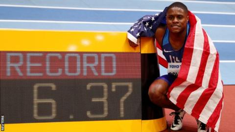 World Indoor Athletics Championships: Christian Coleman wins 60m gold