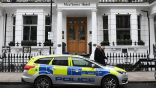 Spanish tourist dead after London hotel 'gas leak'