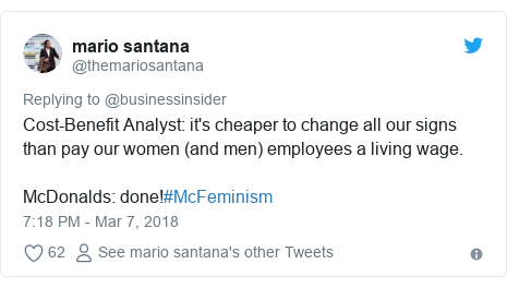 McDonald's tribute condemned as 'McFeminism'