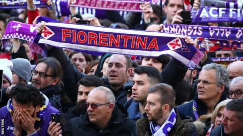 Davide Astori: Funeral sees Italy players and thousands of fans pay respects