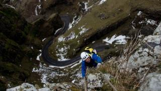 Cheddar Gorge abseiling team's 'extreme spring clean'
