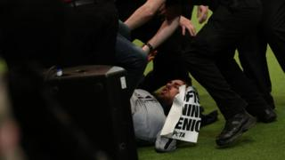 Crufts' live final disrupted by Peta animal activists